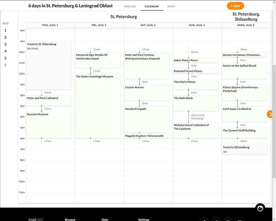 Inspirock Travel Itinerary Plan