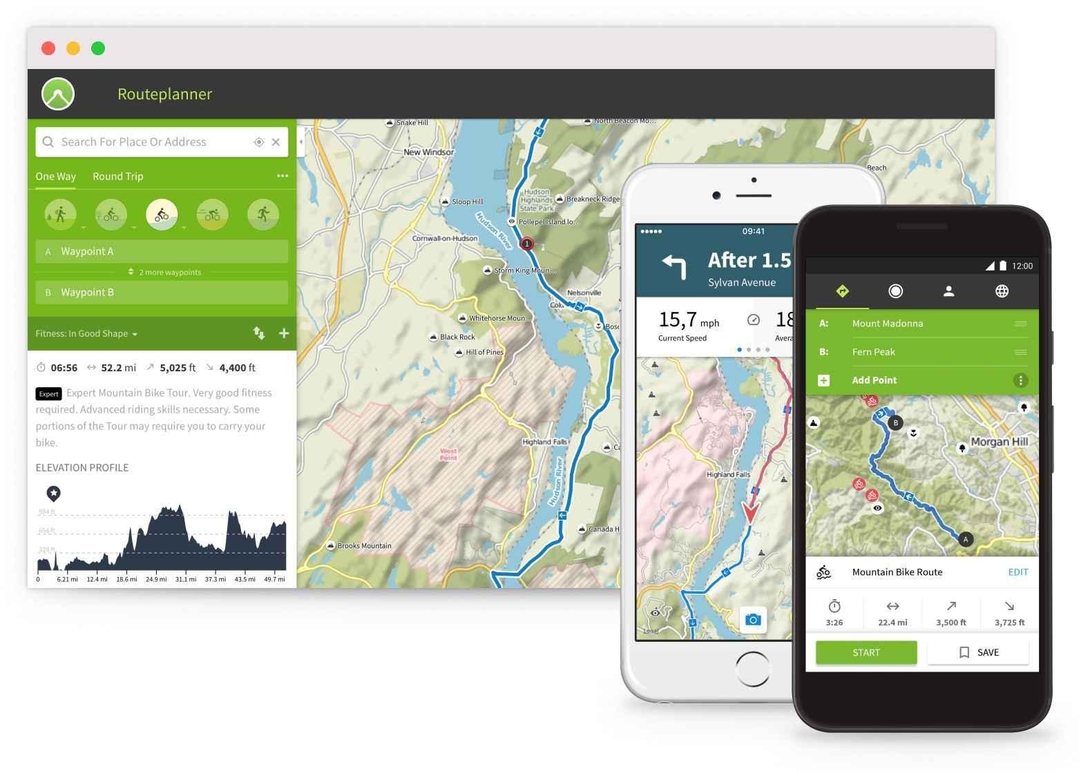 Komoot App and Website