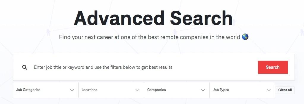 WeWorkRemotely Job Search