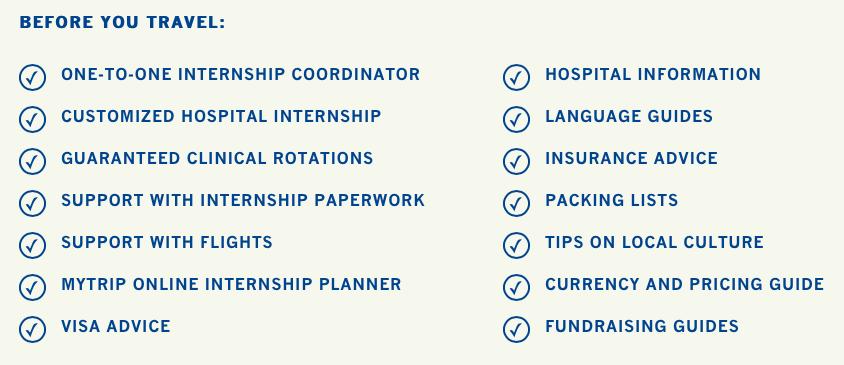Work The World's internship placement package