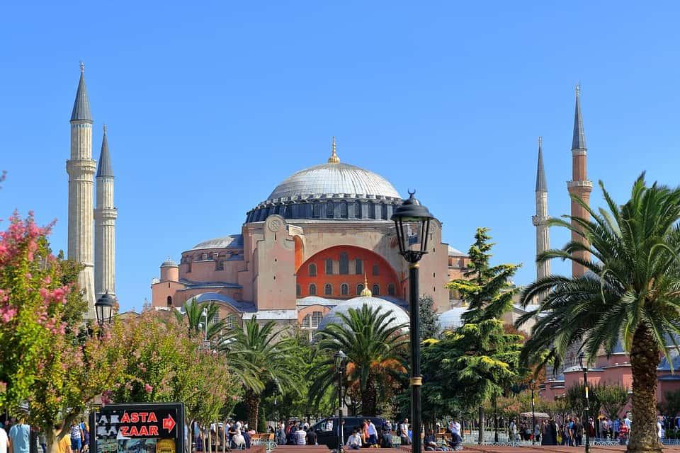 Outside view of Hagia Sophia