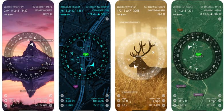 Screenshots of SpyGlass mobile interface