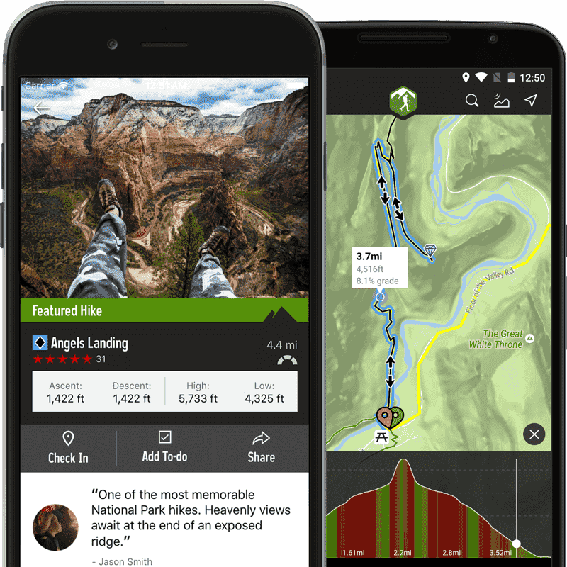 The Hiking Project Mobile Interface