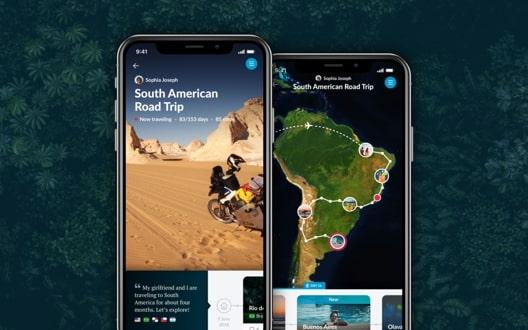 Polarsteps ios app preview