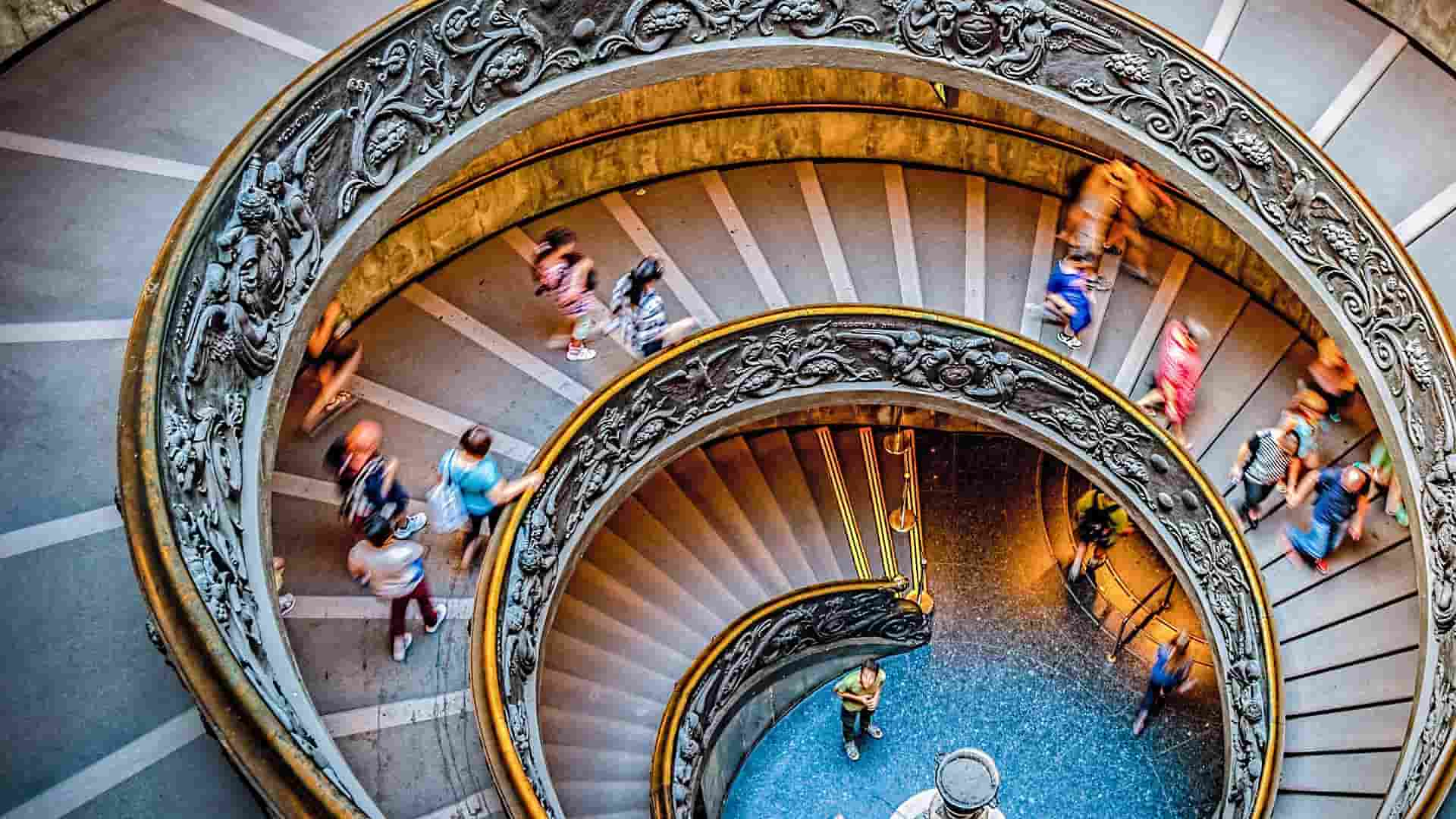 Spiral staircases at the Vatican Museums