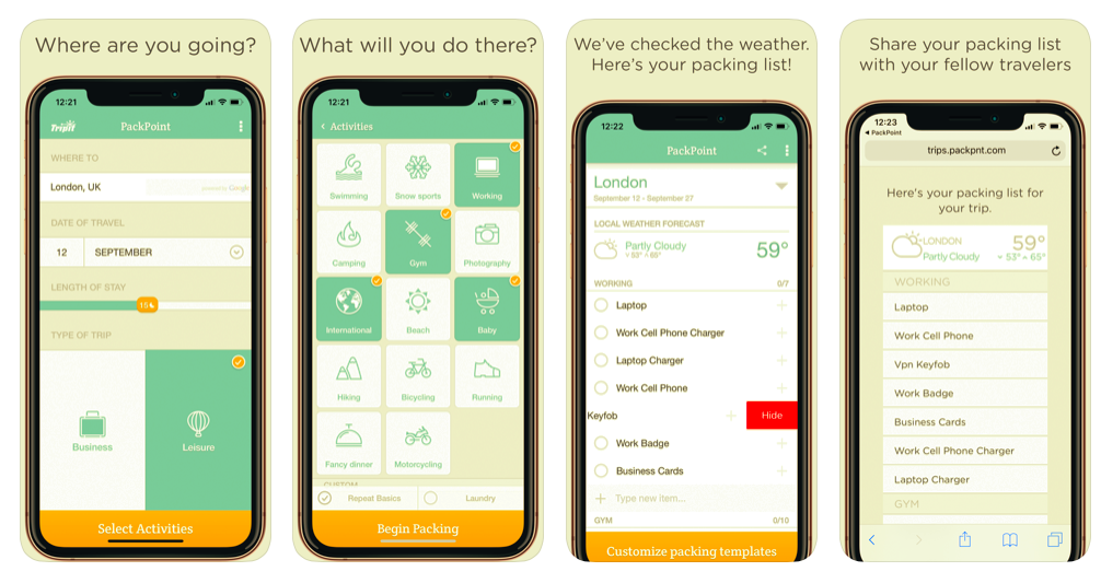 Packpoint app preview and features