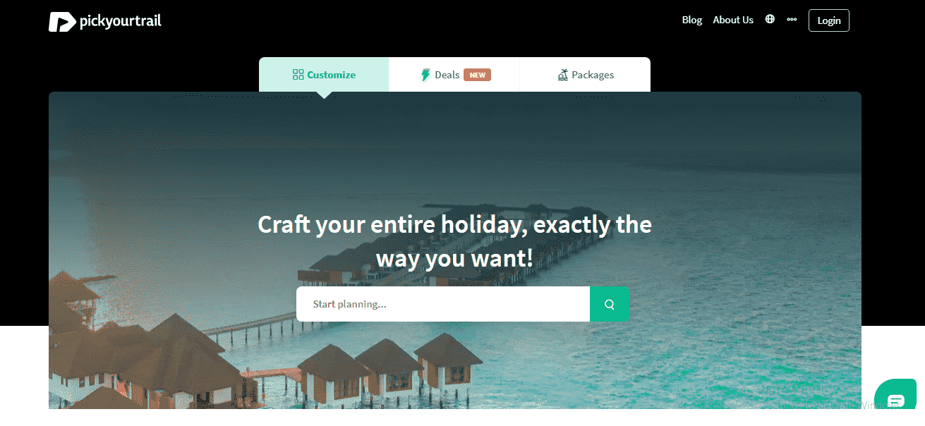 PickYourTrail Homepage for planning vacation and holiday travel