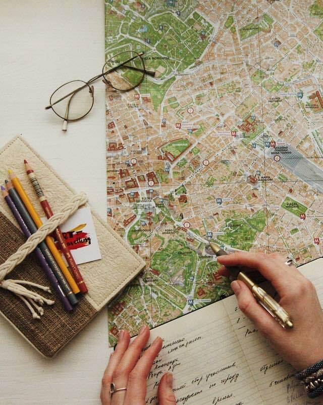 Detailed trip planning with map