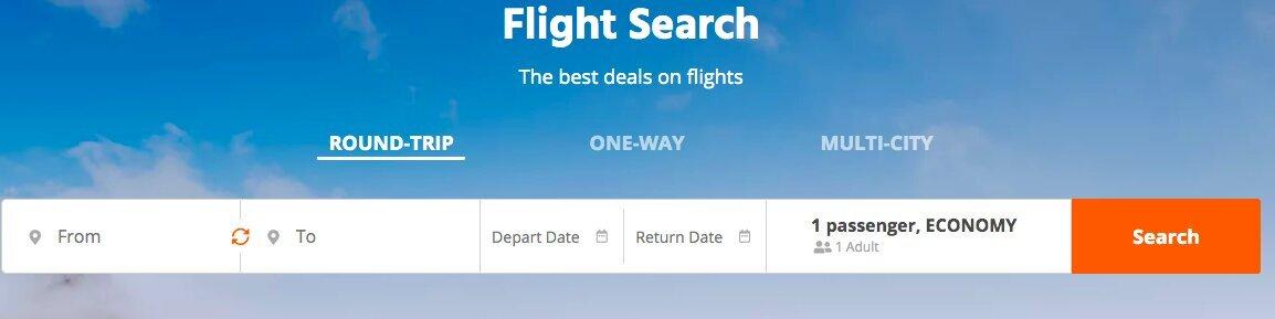 Snaptravel flight search