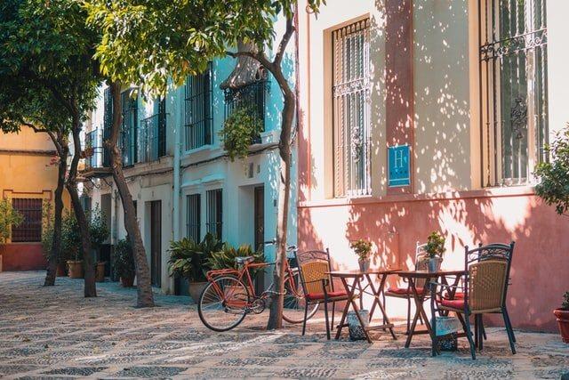 Chic corner of barcelona