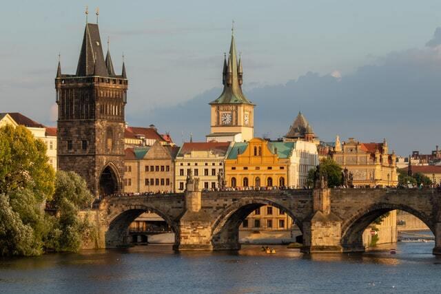 Prague famous bridges