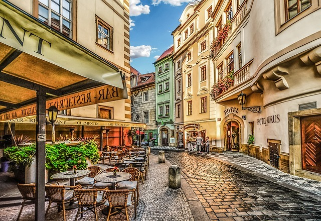 artistic depiction of the streets in prague