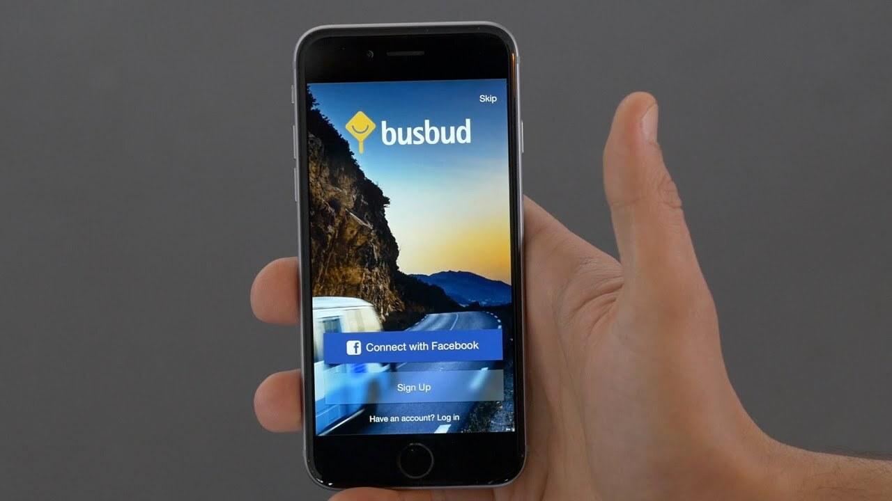 Busbud login page