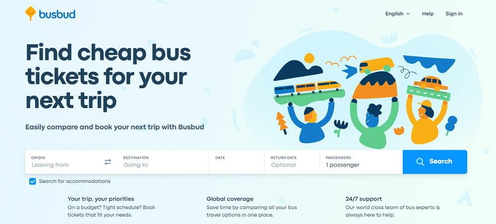 Busbud cheap buses search