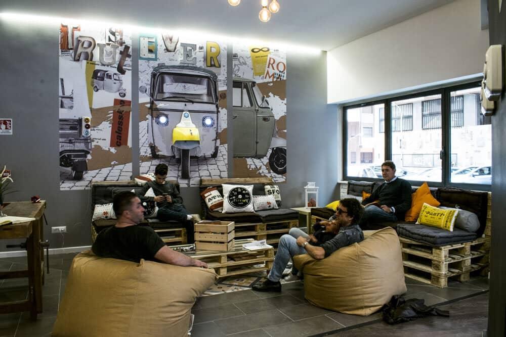 hostel trustever social gathering area rome