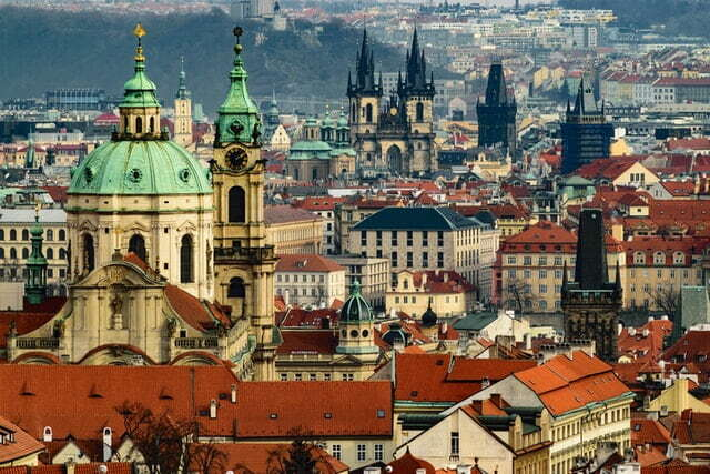 Buildings and things to do in prague