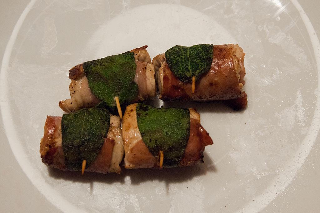 Crispy fried saltimbocca in Rome