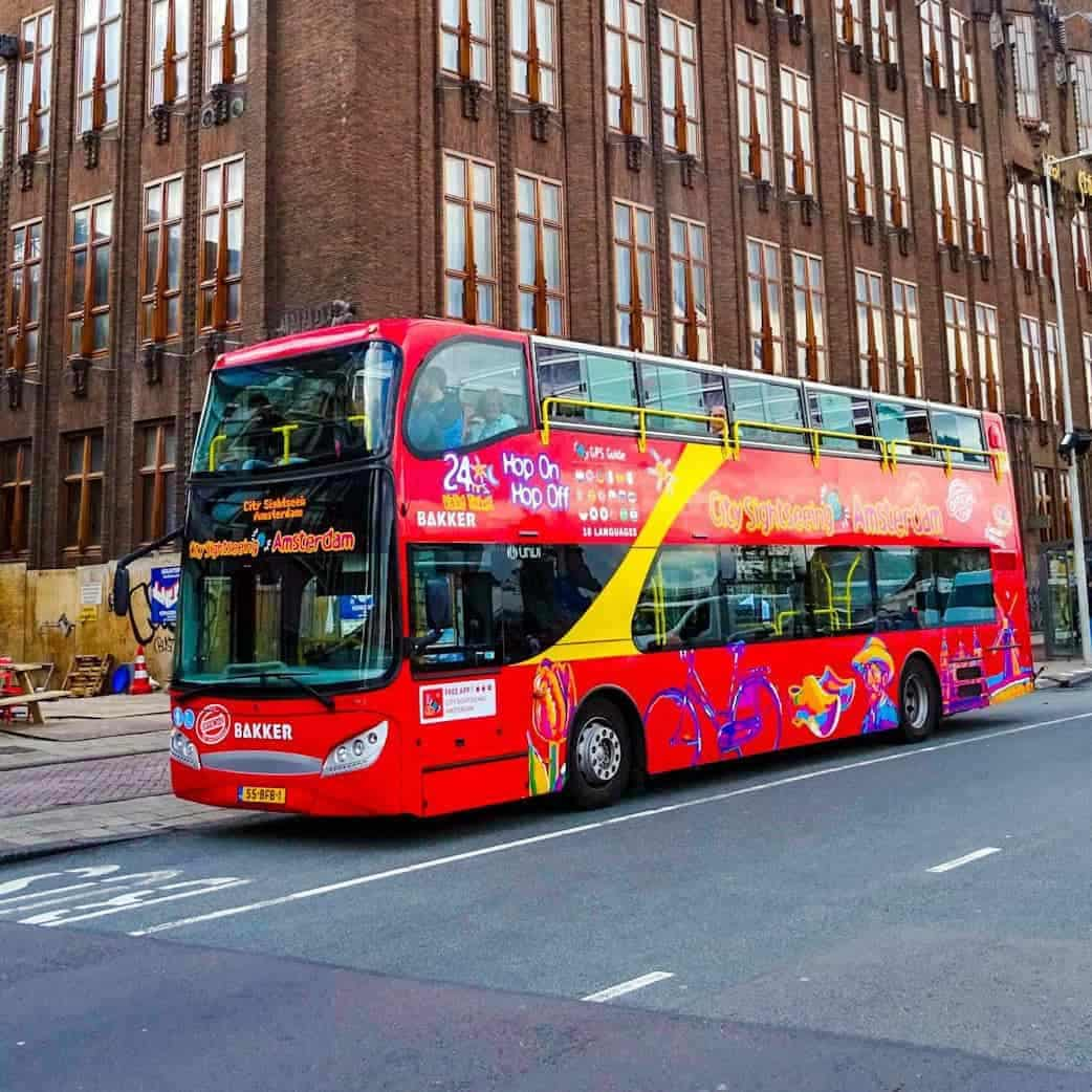City sightseeing amsterdam bus hop on hop off.