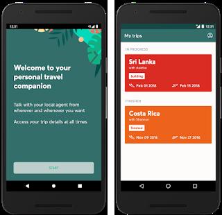 Evaneos travel agent platform app preview.