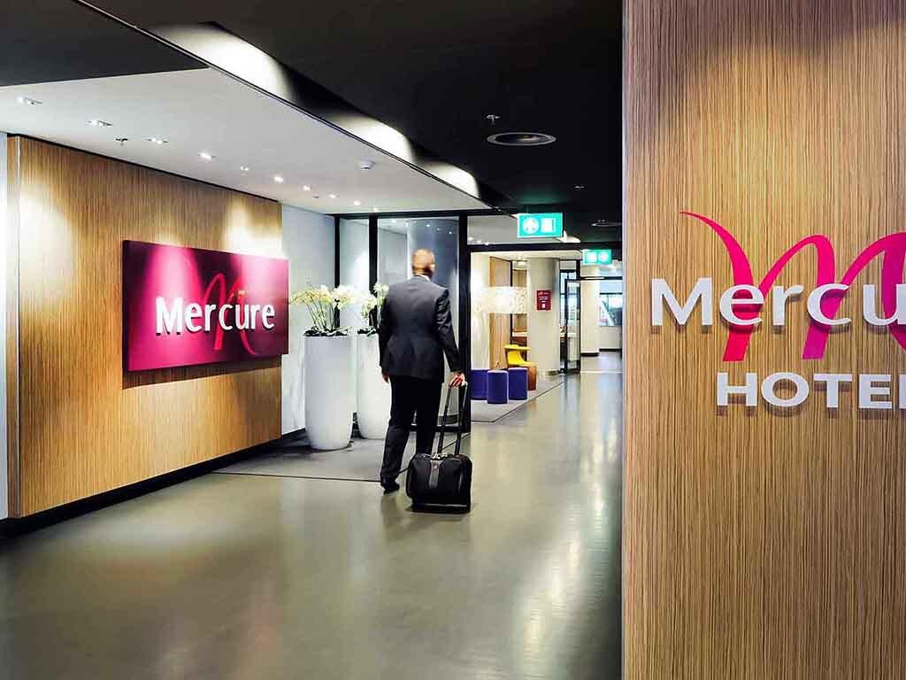 Mercure airport hotel in Schiphol Airport Amsterdam Terminal.