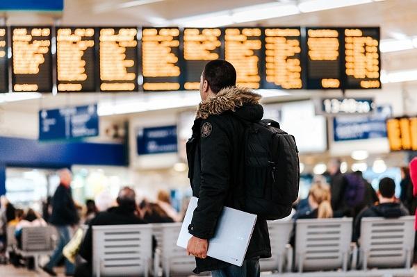 Traveler waiting for their flights.