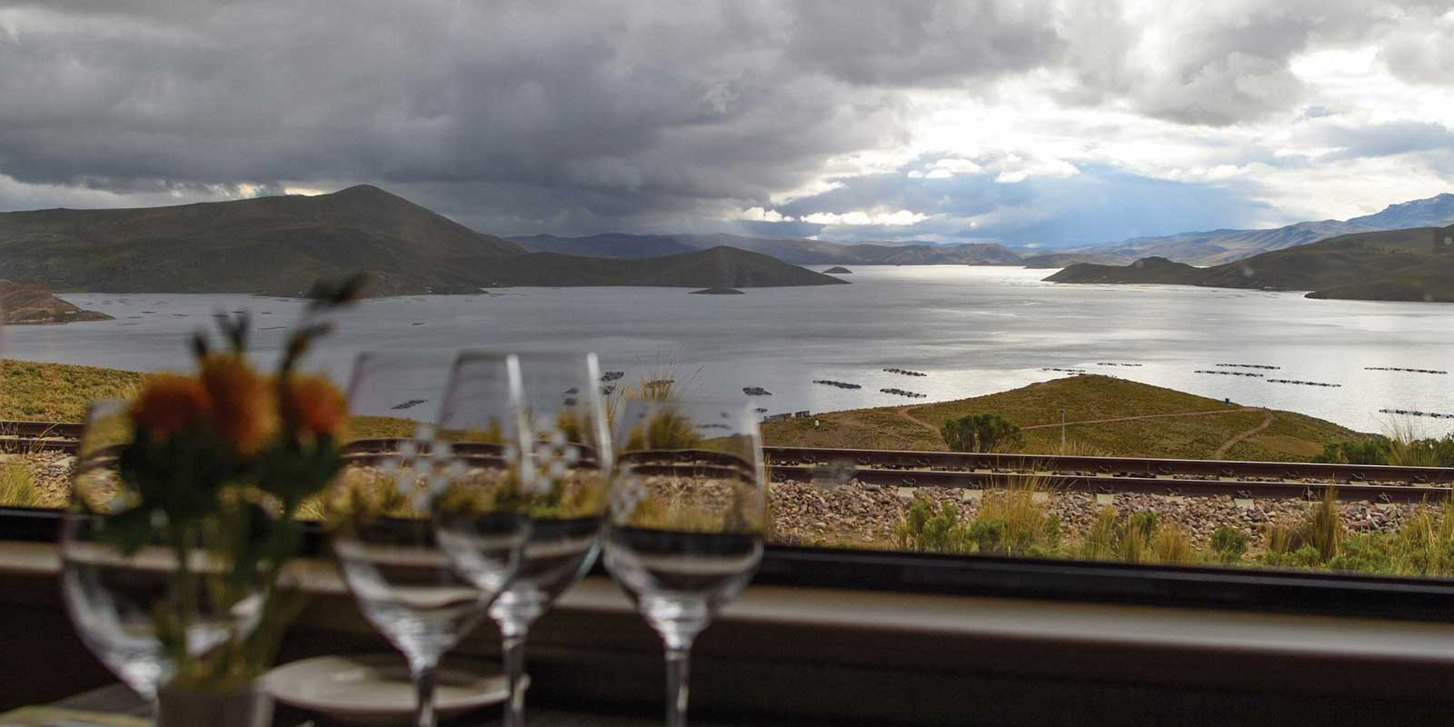 Dining aboard the Belmond Andean Explorer