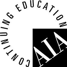 Black and white AIA Continuing Education circle logo