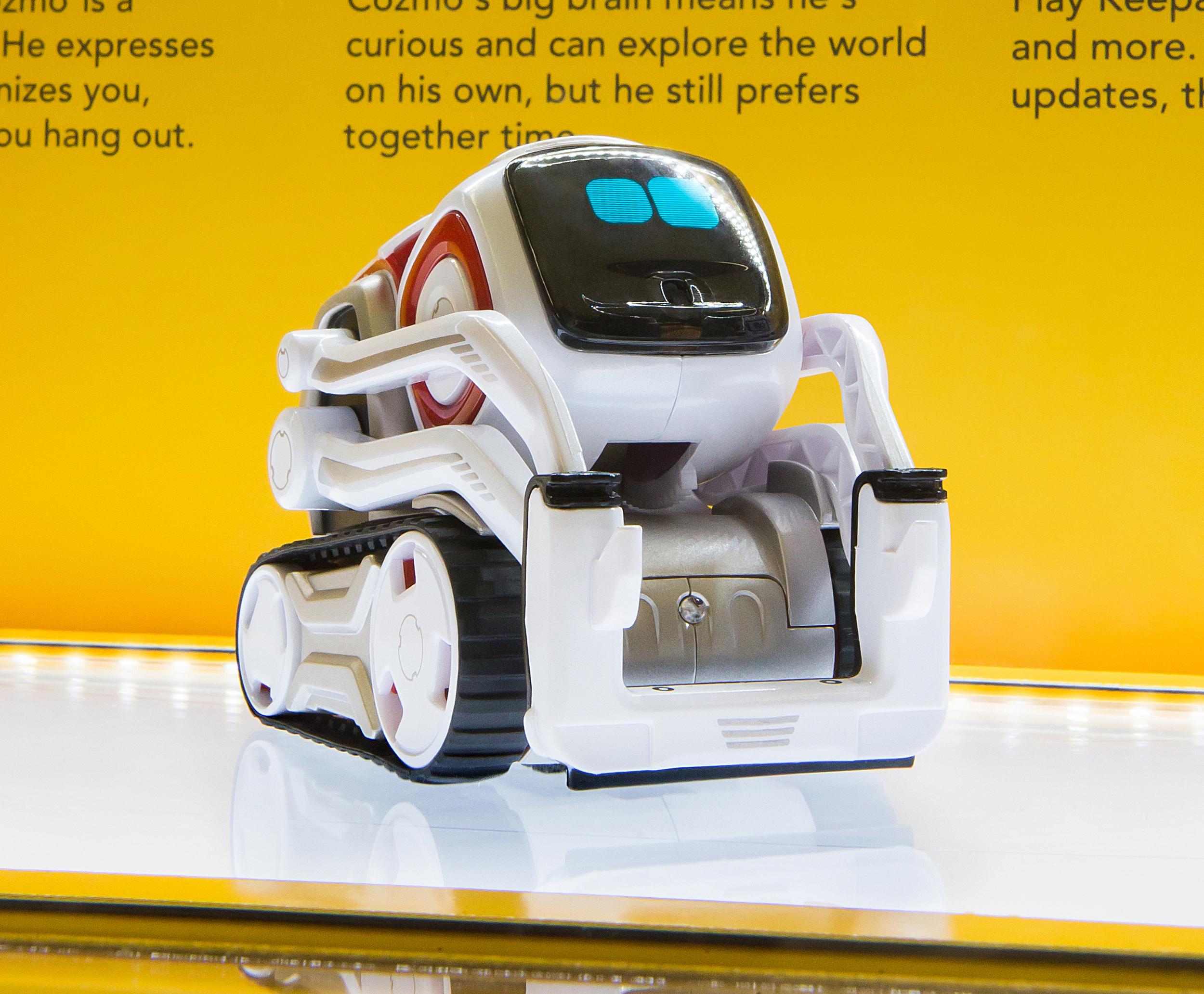 Anki Cozmo AI robot on product display
