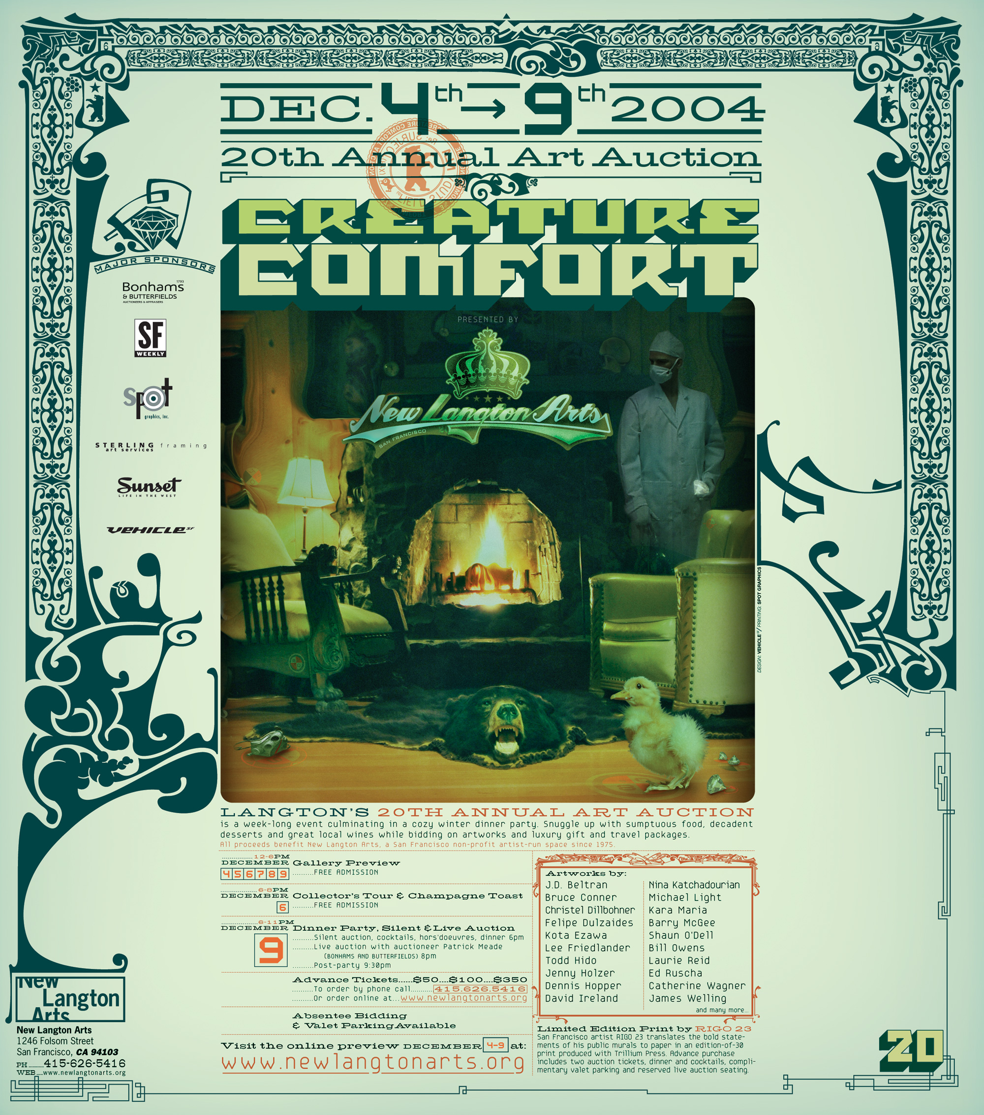 NLA creature comfort poster hires