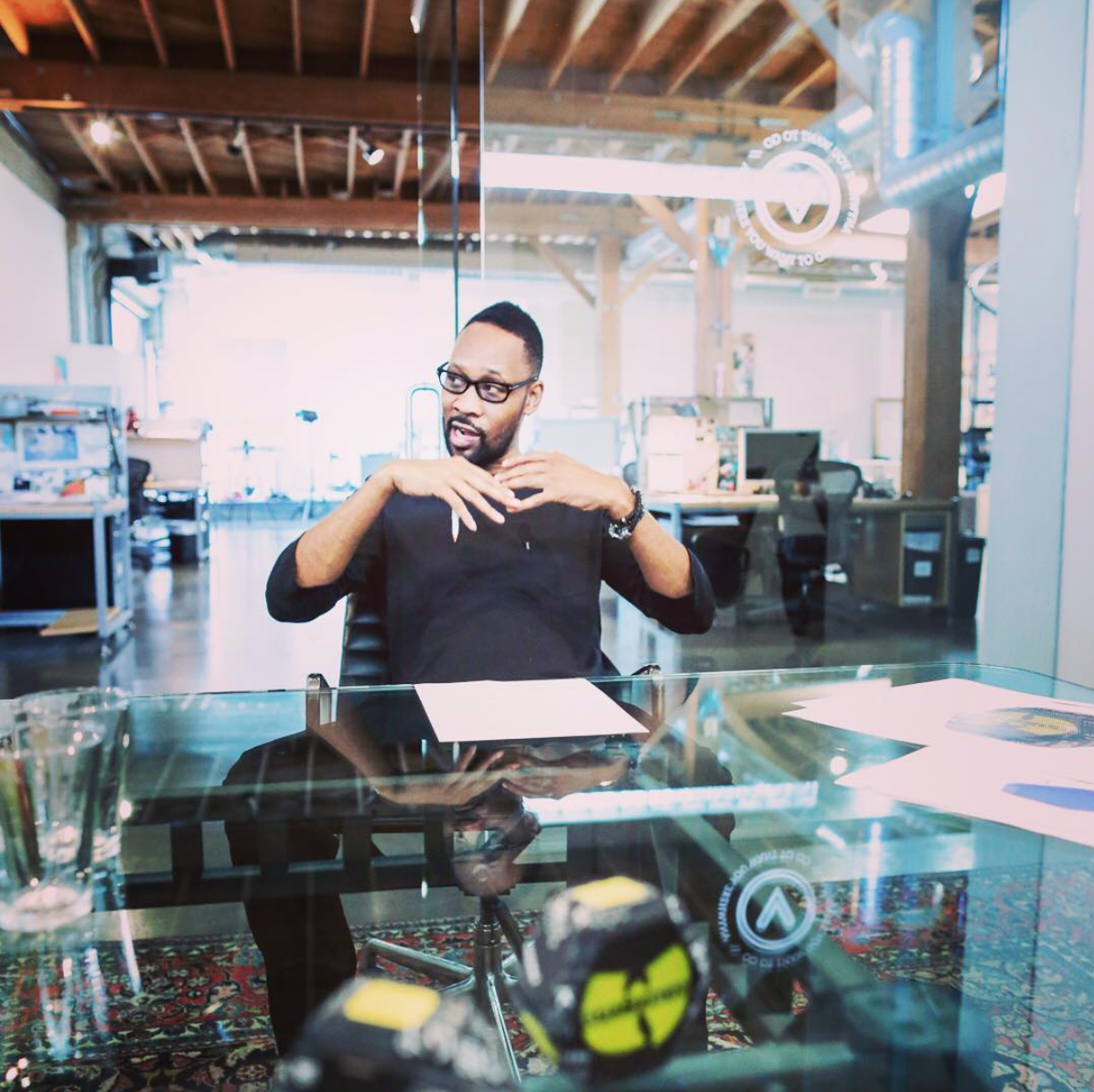 RZA in the office of VehicleSF