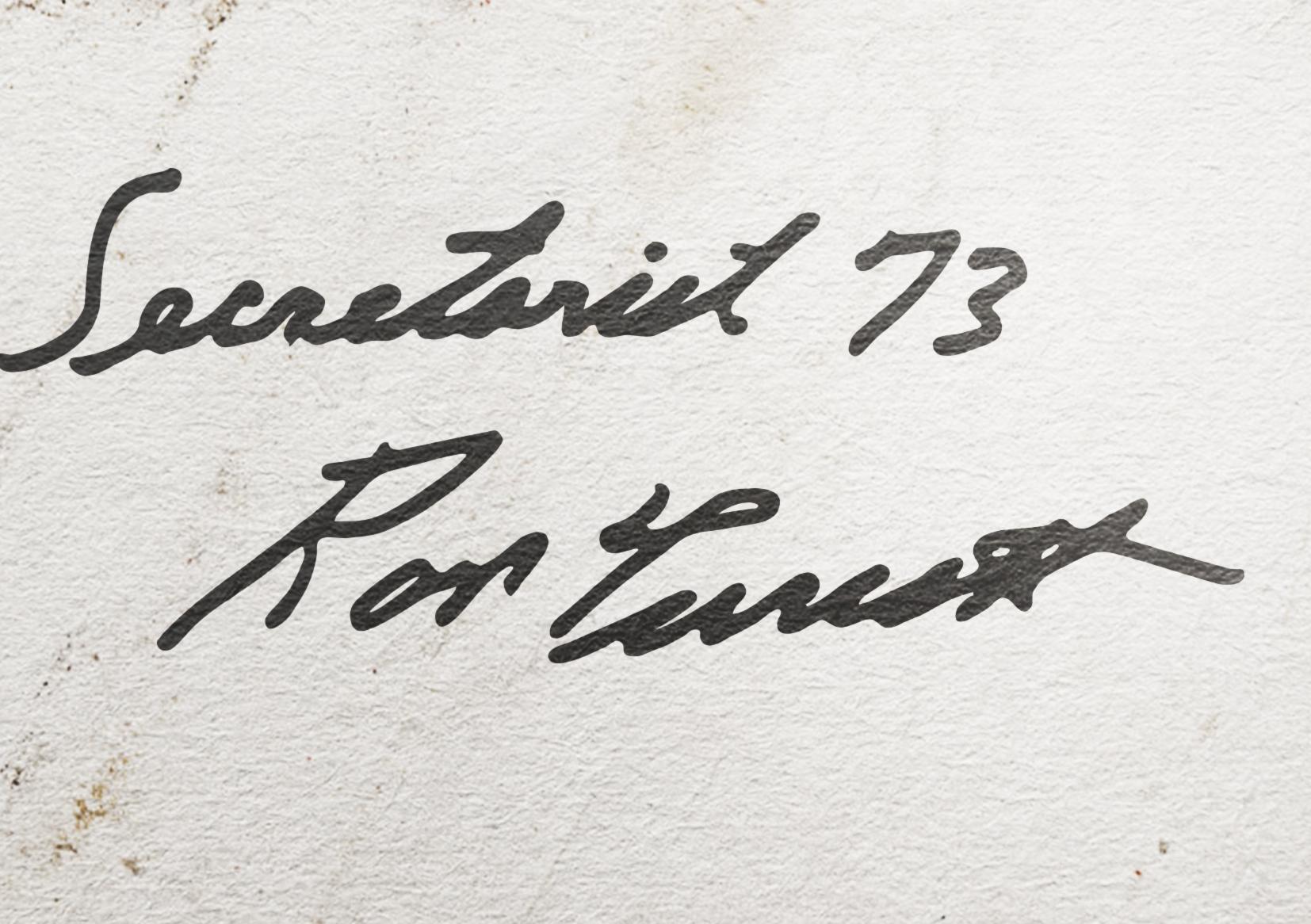 Autograph of jockey for Secretariat from 1973