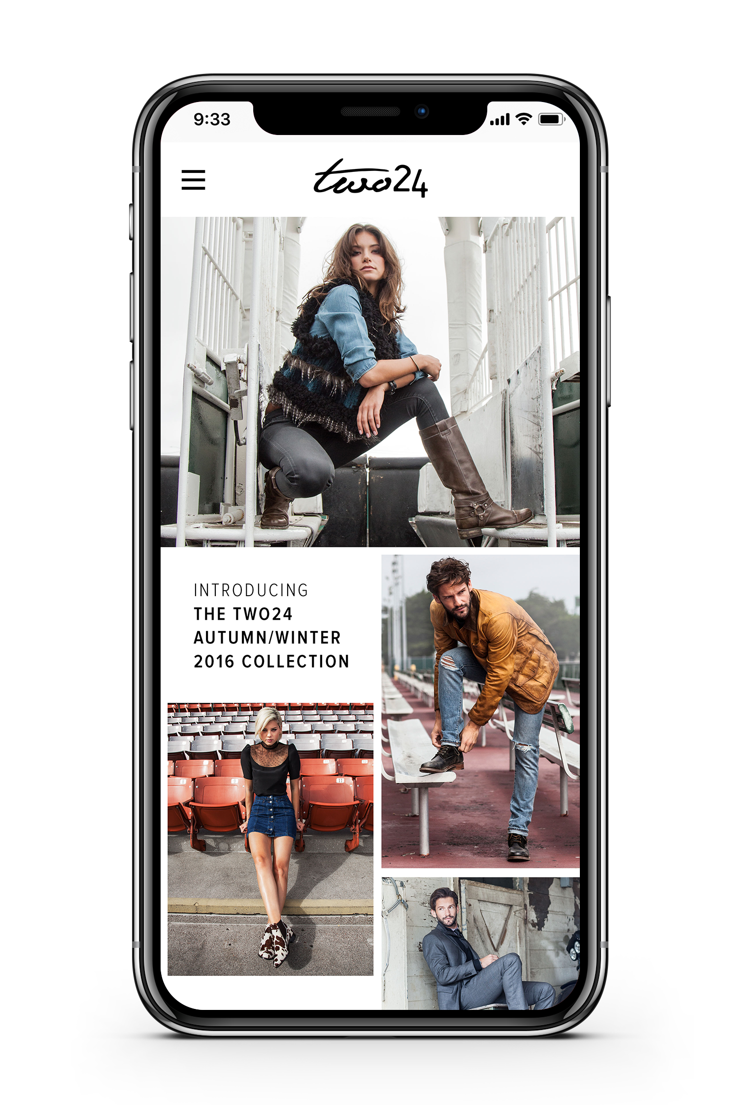 Ariat Two 24 website displayed on a smartphone