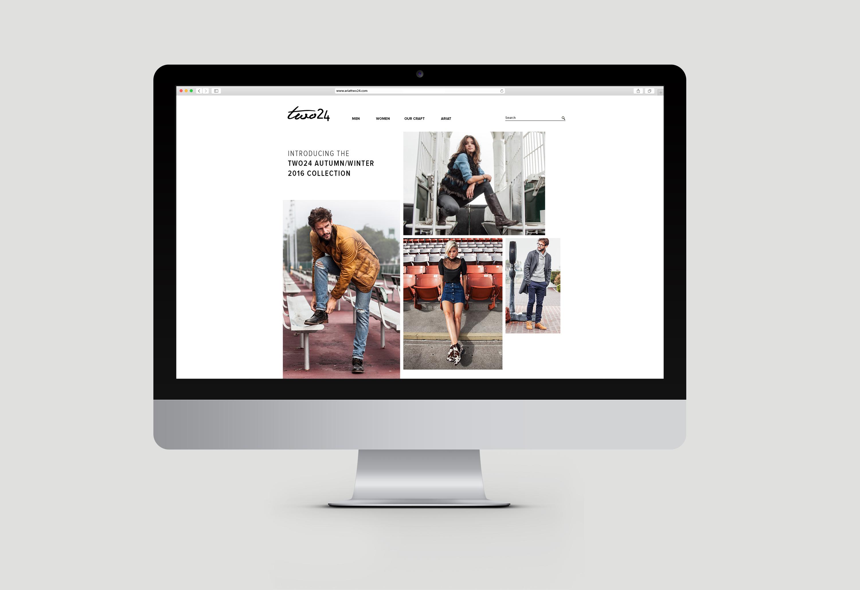 Ariat Two 24 modern website design displayed on laptop computer