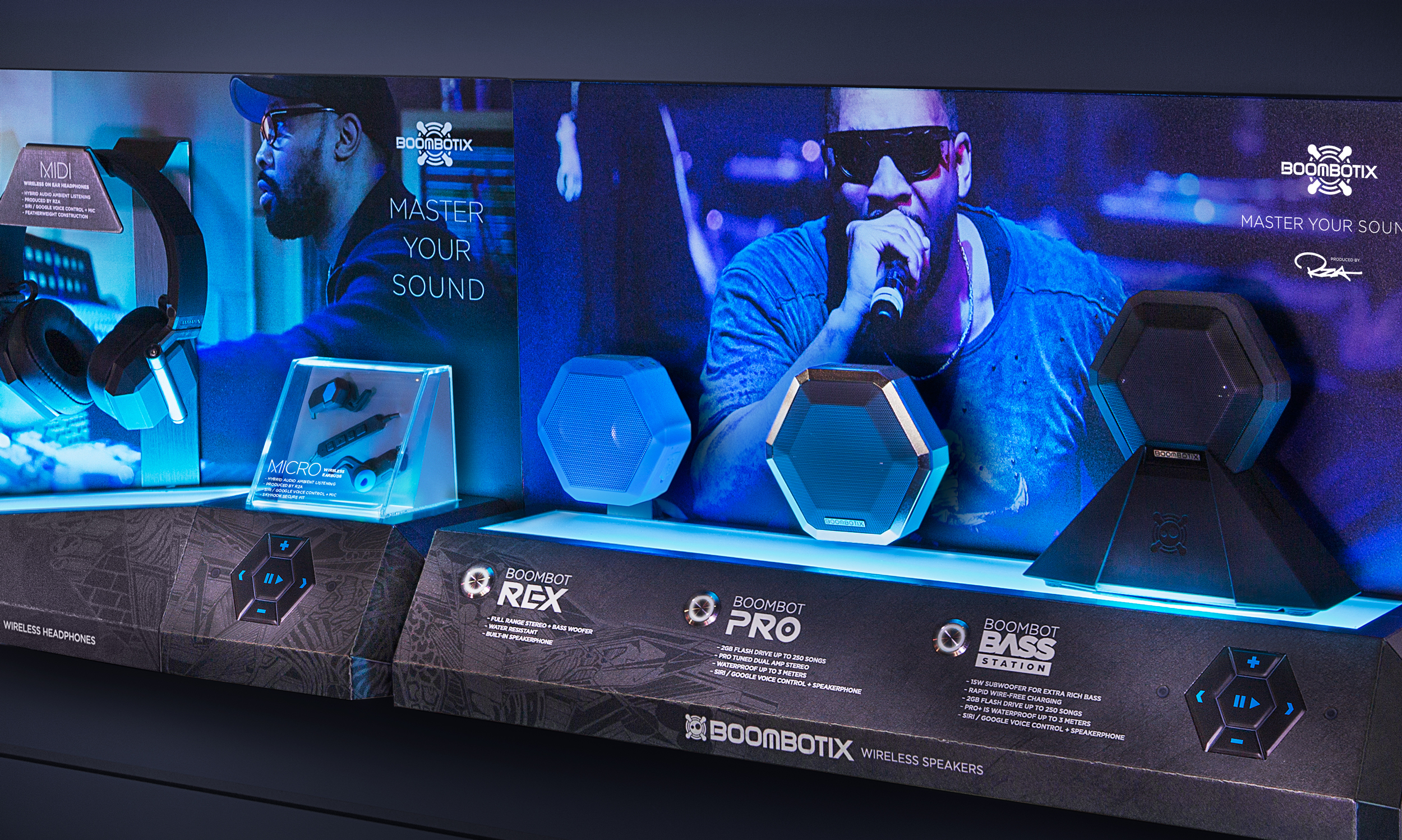 Product display of RZA edition speaker products