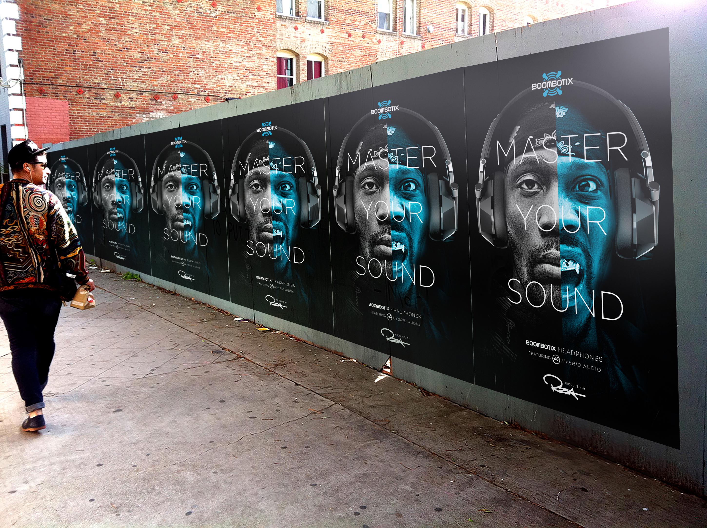 RZA boombotix ads on subway train door