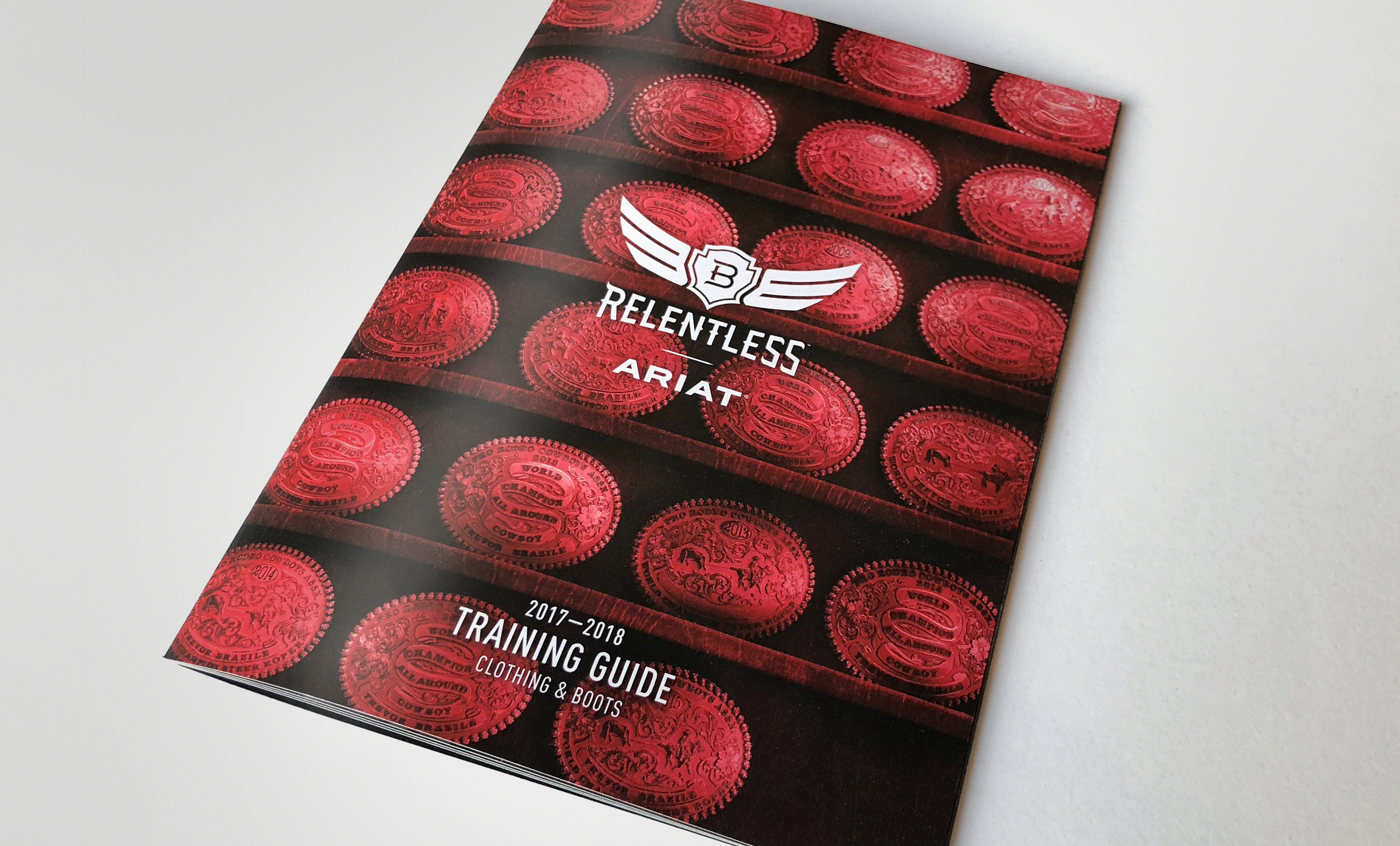 Front cover of Ariat training guide for clothing boots