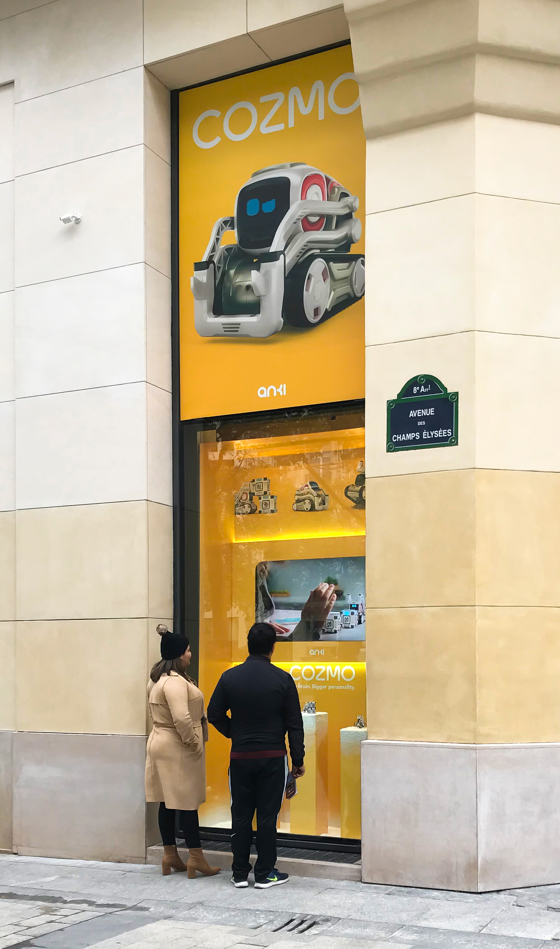 Large scale product display and advertisement for Anki Cozmo robot