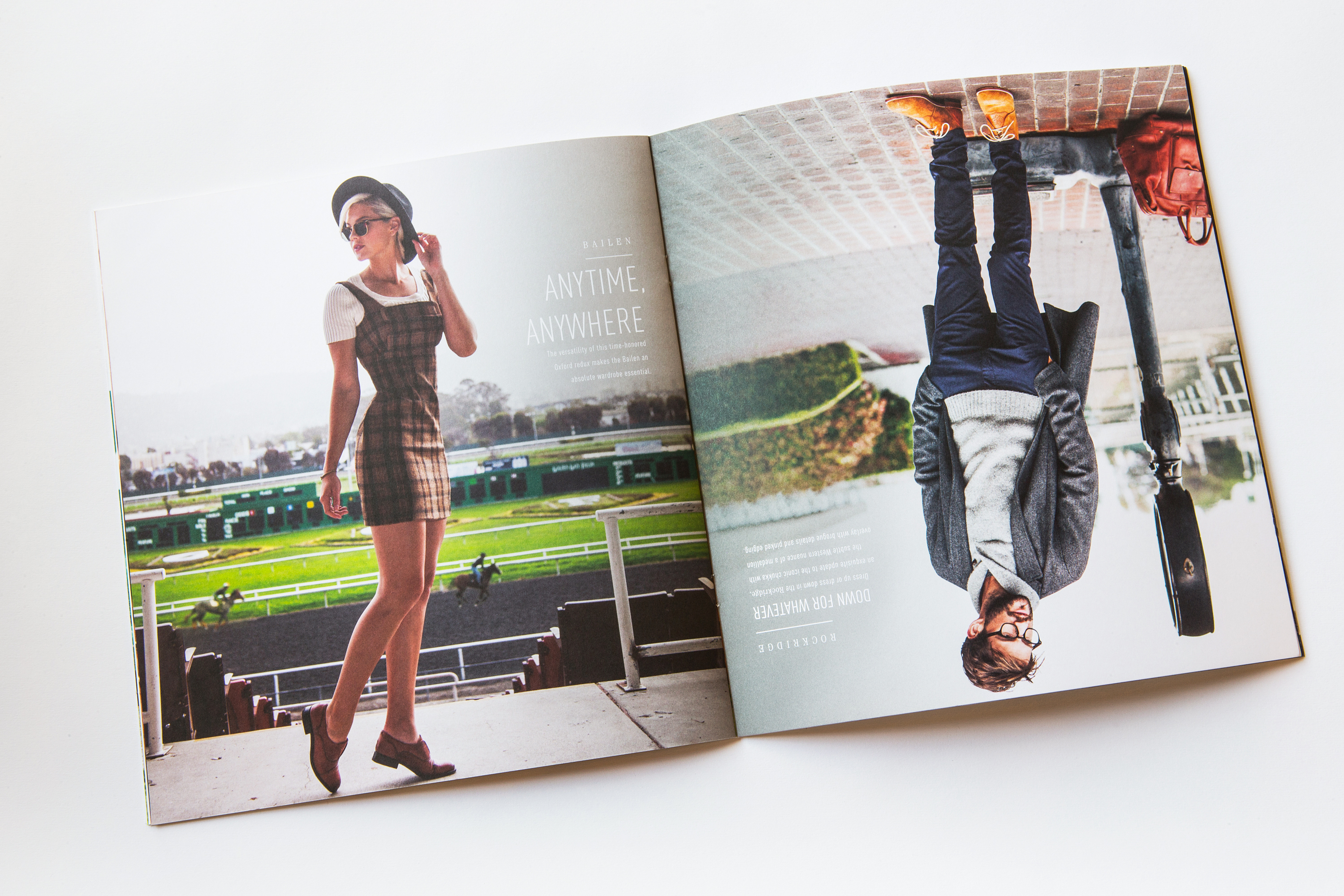 Ariat Two 24 Magazine spread with man and women modeling in fashionable boots