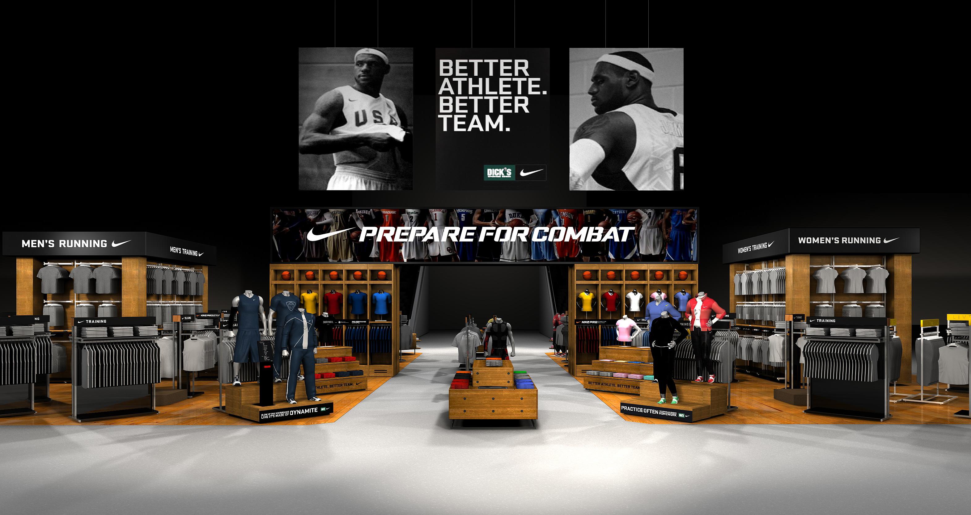 Virtual display of Nike DSG store.