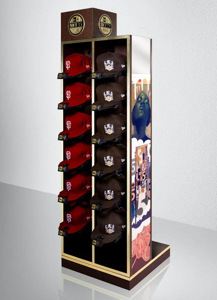 Digital render of new balance hats store display