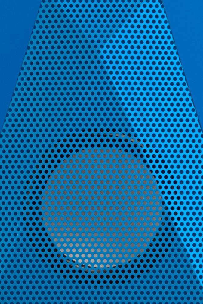 Close up of blue boombotix speaker