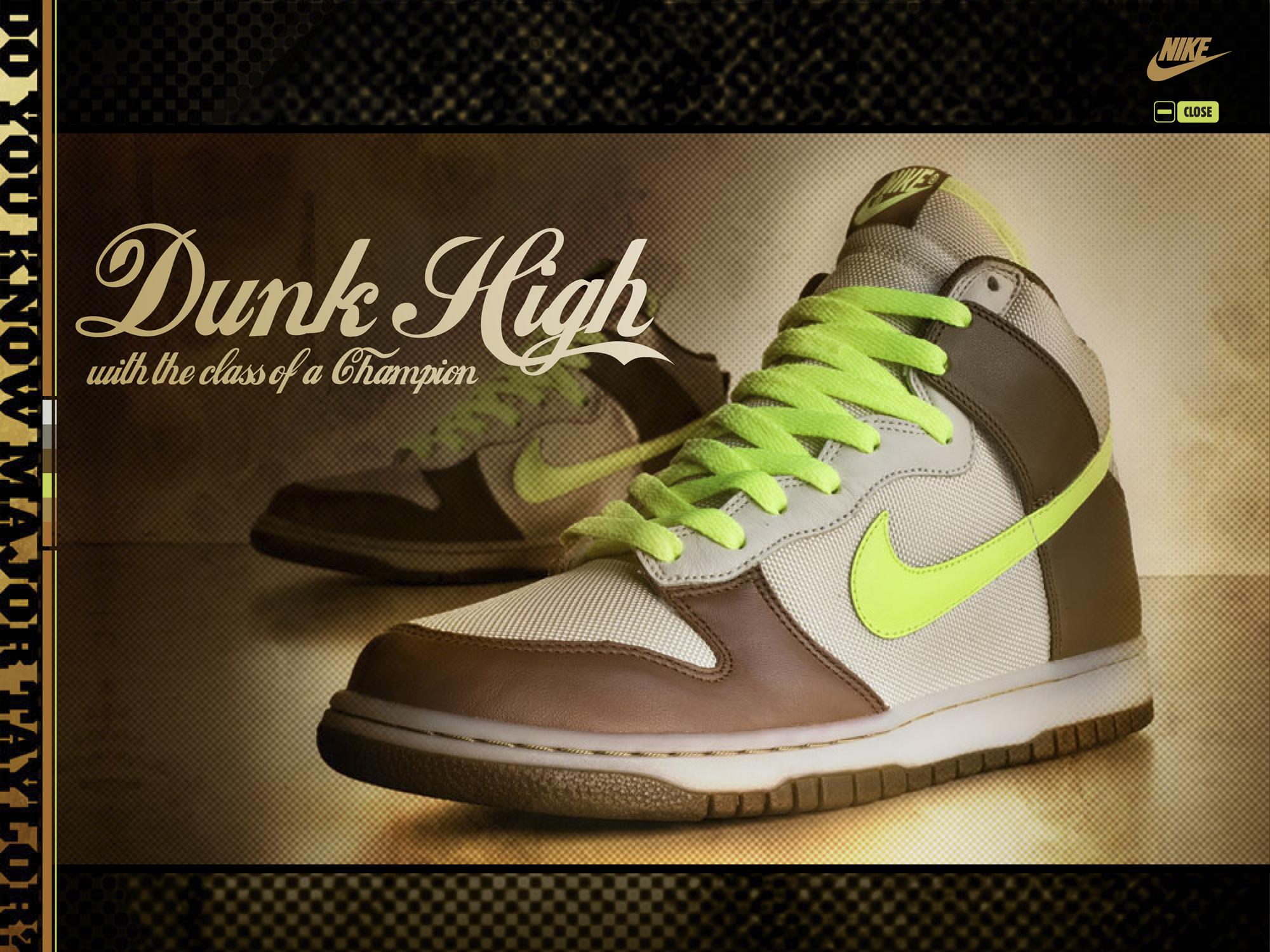 Website display of nike shoes