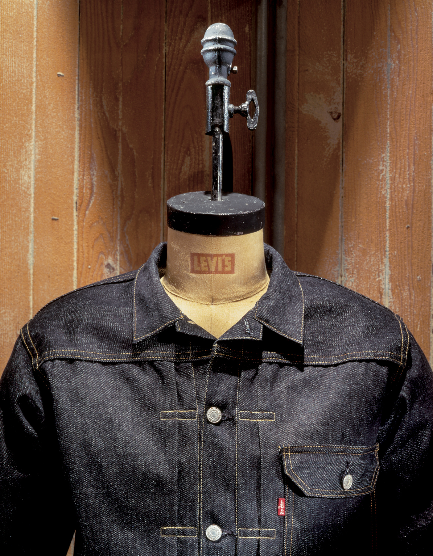 Levis denim product display in retail store