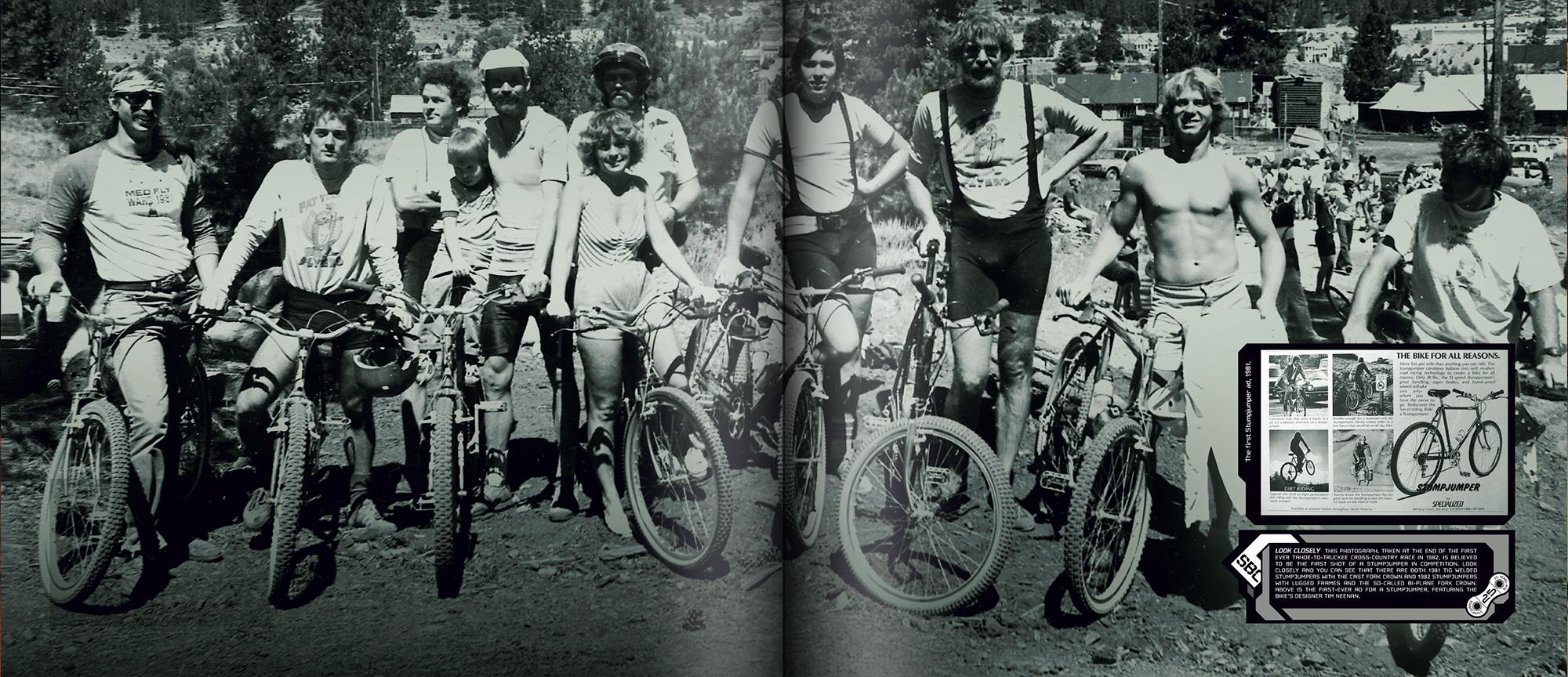 Stunt jumper anniversary book depicting bike cogs and stuntjumper bike