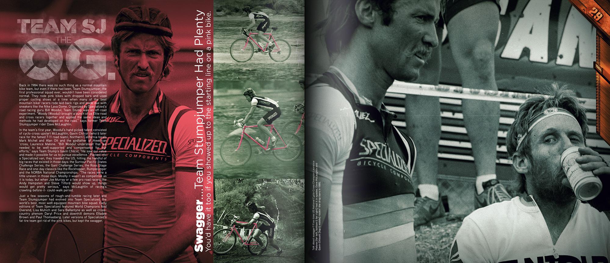 Stunt jumper anniversary book depicting riders and stuntjumper bike