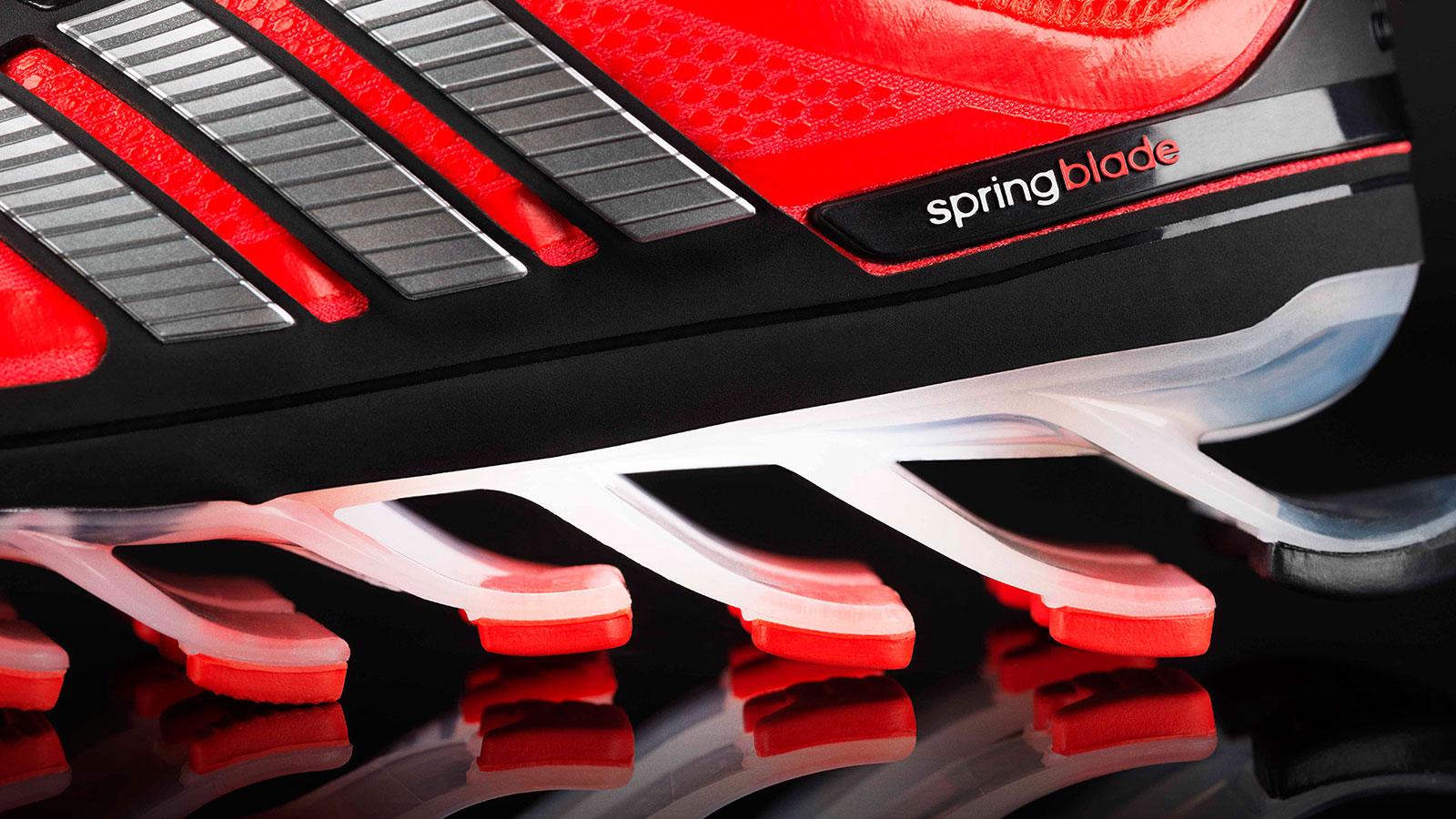 Heal of adidas Springblade shoe