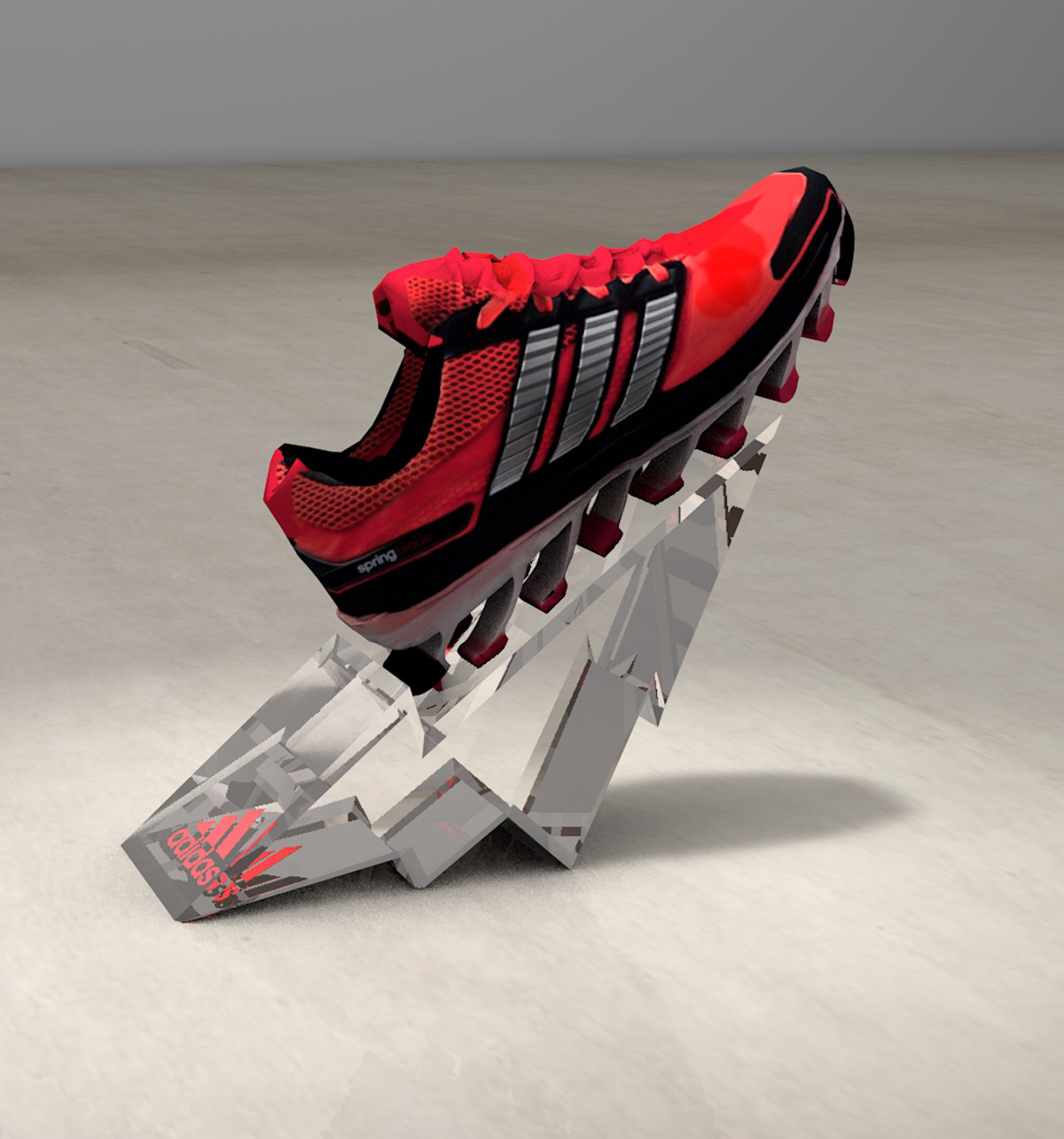 adidas Springblade shoe highlight render