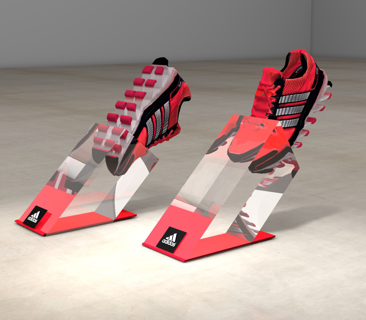 adidas Springblade shoe highlight renders