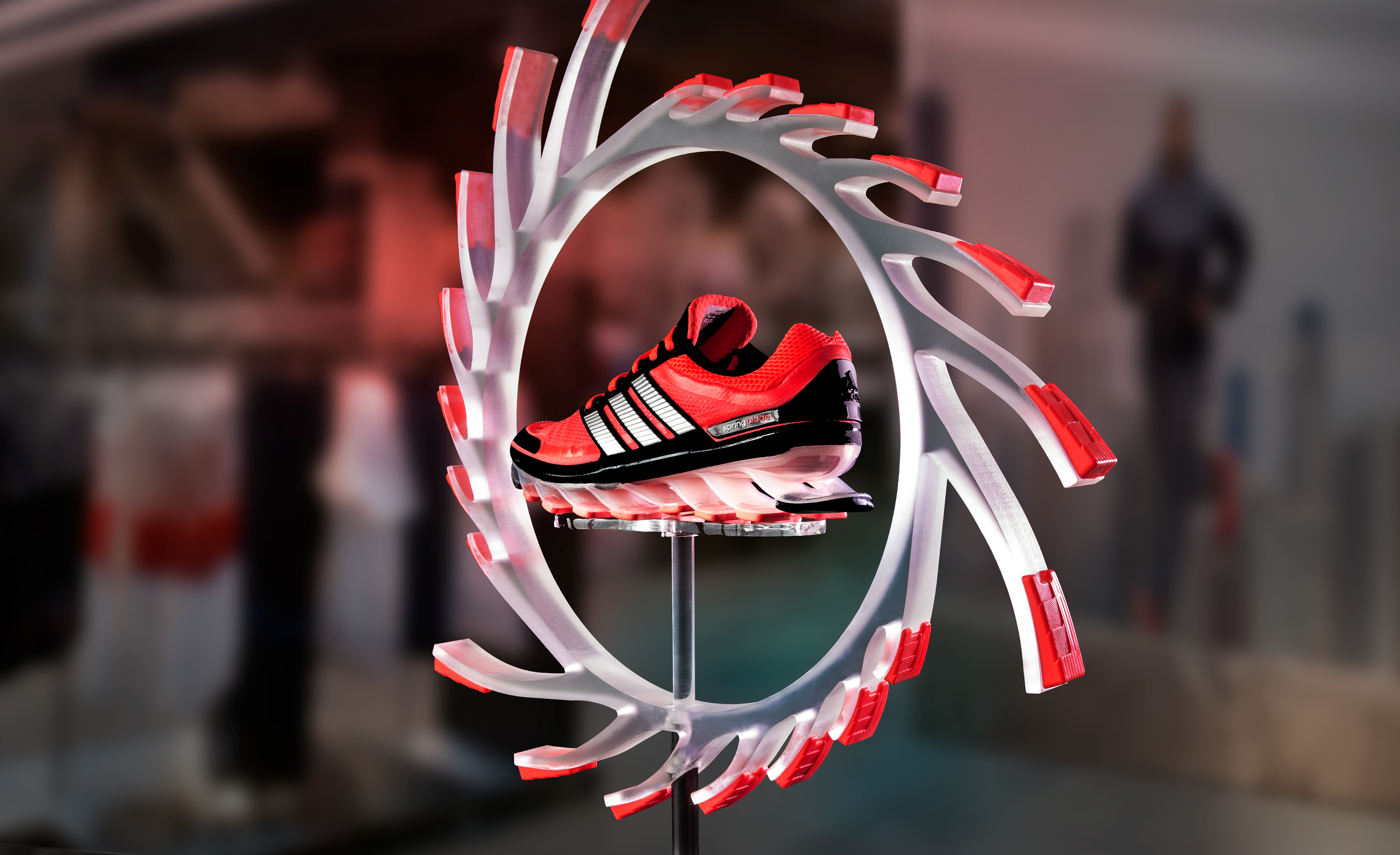 adidas Springblade shoe fixture in store