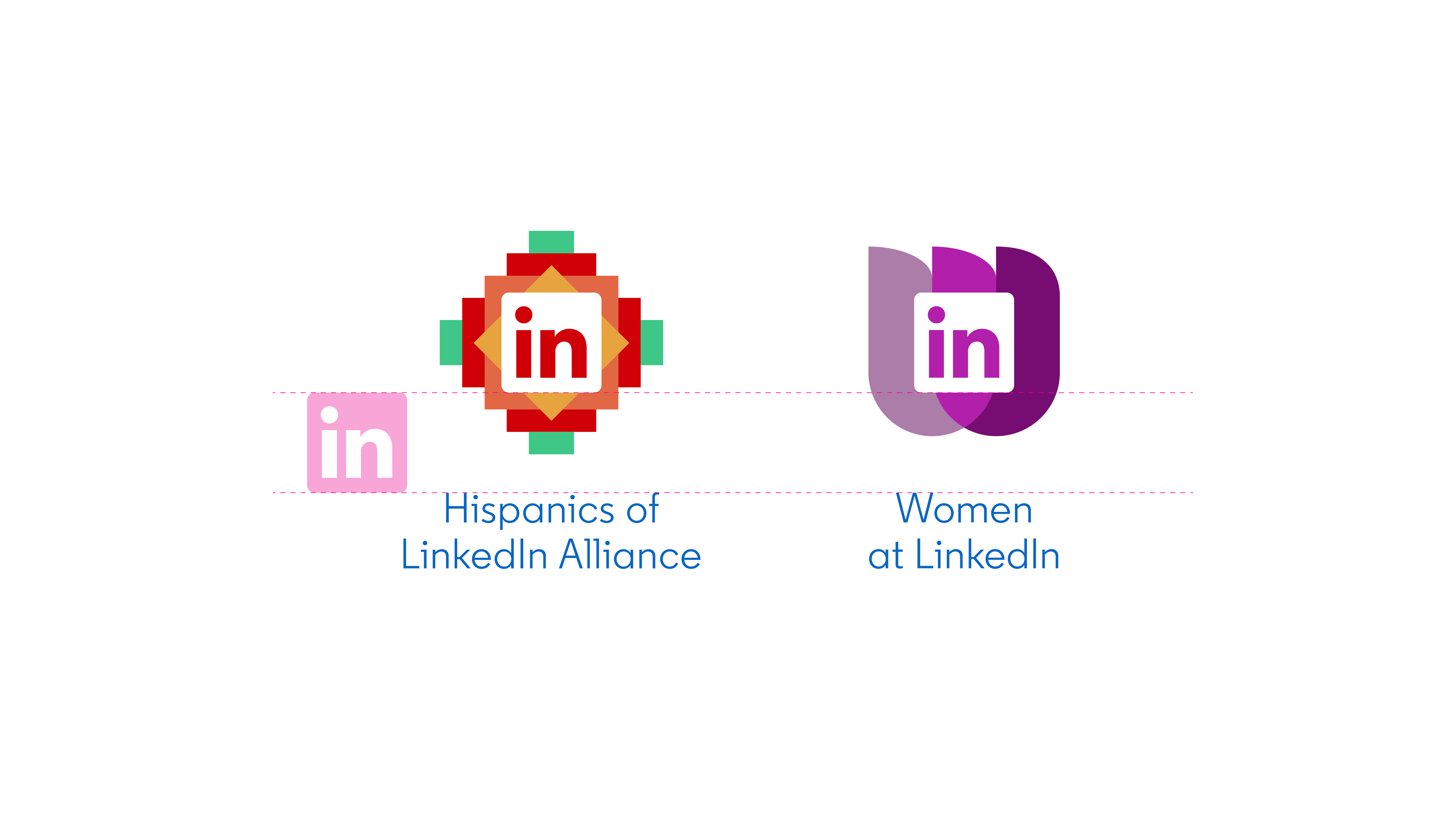 LinkedIn Employee Resource Group brand guidelines page